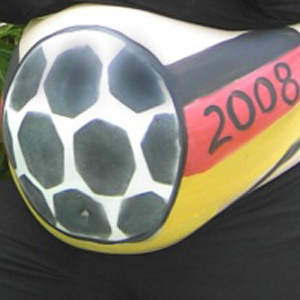 Bellypainting Fußball WM 2008